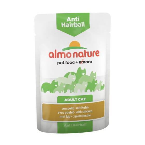 Adult Cat Anti-Hairball Con Pollo 70g de Almo Nature
