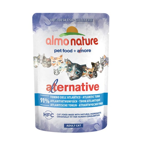 Adult Cat Alternative Atún Del Atlantico 55g de Almo Nature