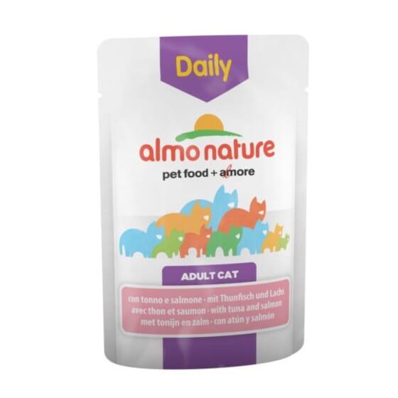 Adult Cat Daily Atún y Salmón 70g de Almo Nature