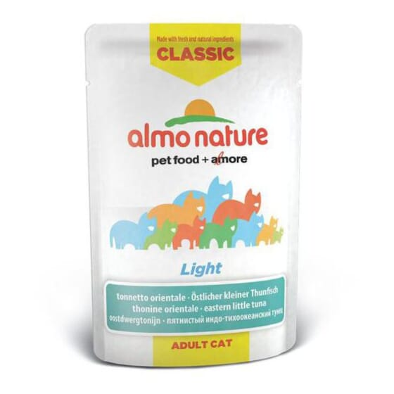Adult Cat Classic Light Atún Skipjack 55g de Almo Nature