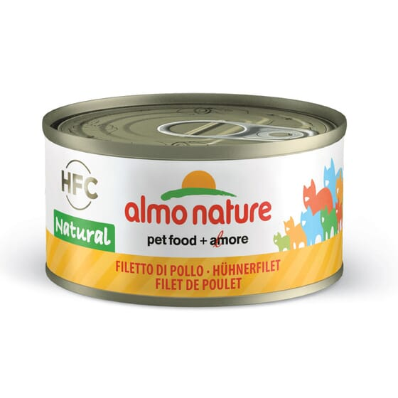 Cat Hfc Natural Filete De Pollo 70g de Almo Nature