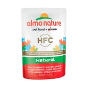 Adult Cat Green Label Filete De Frango e Gambas 55g da Almo Nature