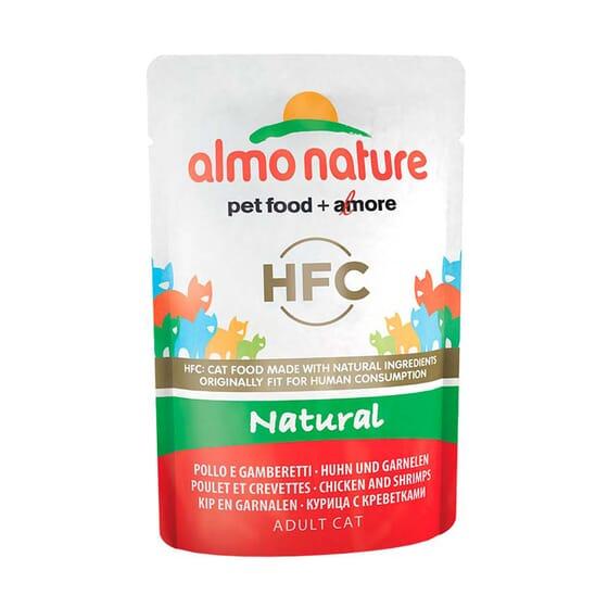 Adult Cat Green Label Filete De Pollo y Gambas 55g de Almo Nature