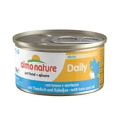 Cat Daily Menu Mousse Atum e Bacalhau 85g da Almo Nature