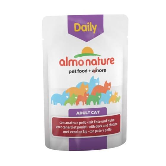 Adult Cat Daily Pollo y Pato 70g de Almo Nature