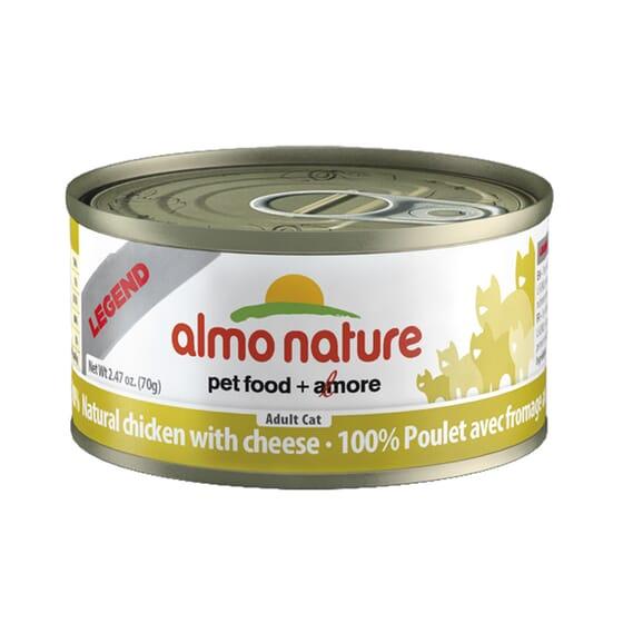 Adult Cat Hfc Legend Natural Pollo y Queso 70g de Almo Nature
