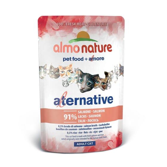 Adult Cat Alternative Salmón 55g de Almo Nature