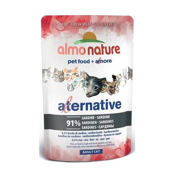 Adult Cat Alternative Sardinas 55g de Almo Nature