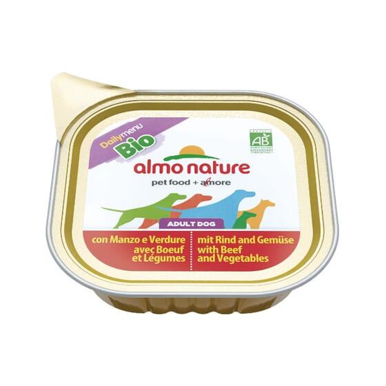 Adult Dog Daily Menu BIO Con Carne De Vacuno y Vegetales 300g de Almo Nature