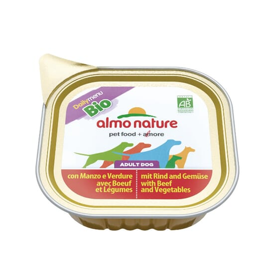 Adult Dog Daily Menu BIO Ternera y Vegetales 300g de Almo Nature