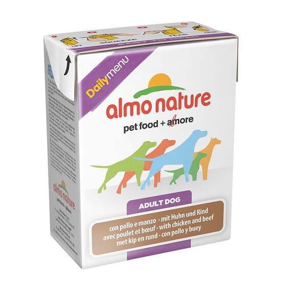 Adult Dog Daily Menu Pollo y Ternera 375g de Almo Nature