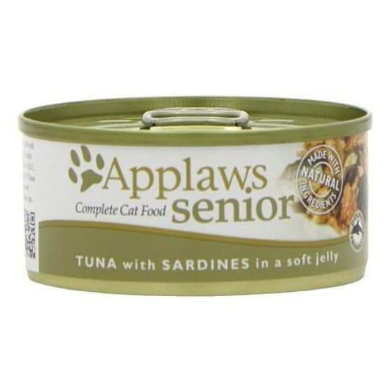 Cat Senior Lata Gelatina Atún Con Sardinas Para Gatos 70g de Applaws