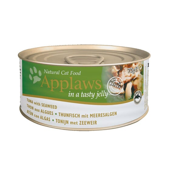 Cat Lata Gelatina Atún Con Algas Para Gatos 70g de Applaws