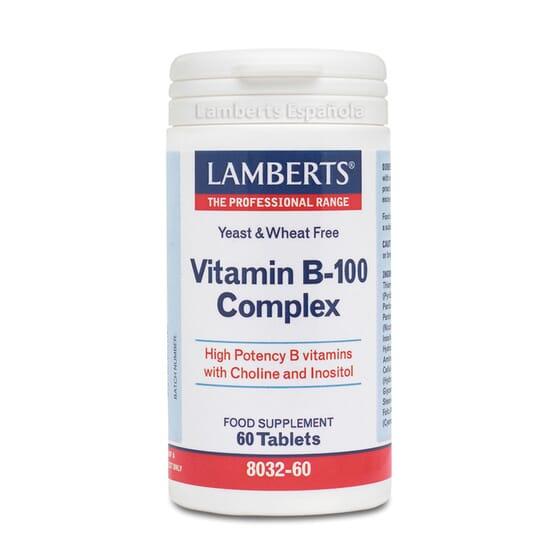 VITAMIN B-100 COMPLEX 60 Comprimés - LAMBERTS