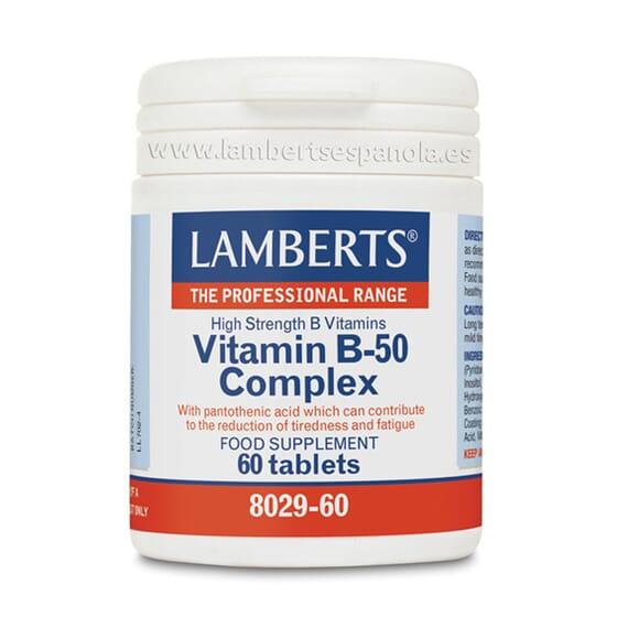 Vitamin B-50 Complex 60 Tabs da Lamberts