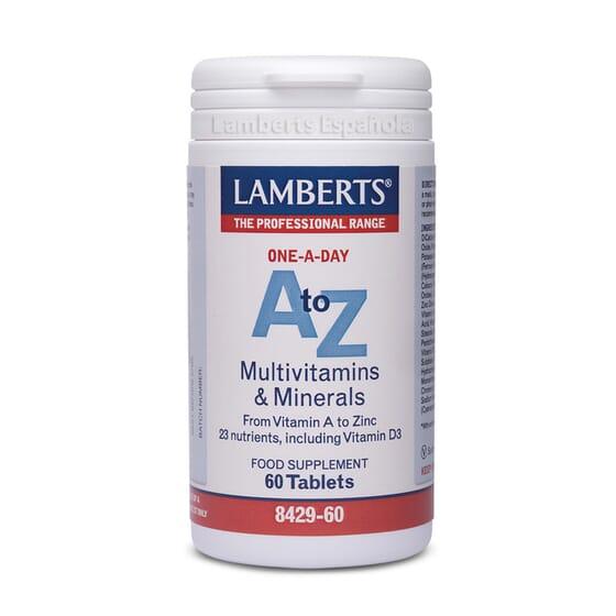 A-Z Multivitaminas E Minerais 60 Tabs da Lamberts