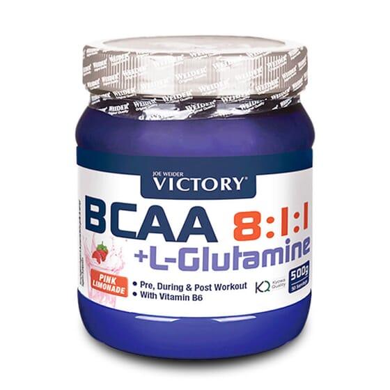 Bcaa 8:1:1 + Glutamine 500g de Victory