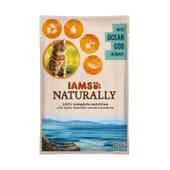 Naturally Gato Adulto Bacalao Natural En Salsa 85g de Iams