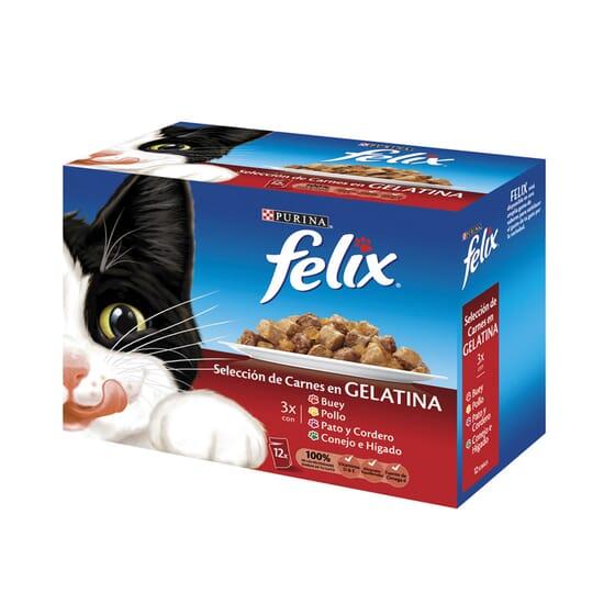 Selección De Carnes En Gelatina 12 Sobres De 100g de Felix