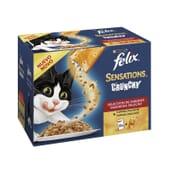 Sensations Crunchy Carnes 10 Sobres De 100g de Felix