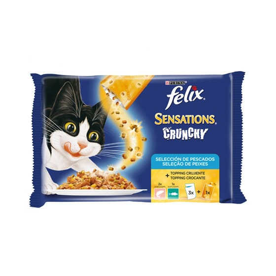 Sensations Crunchy Pescados 3 Sobres De 100g de Felix