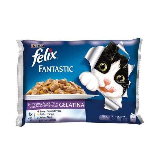 Fantastic Selecciones Favoritas Em Gelatina 4 Saquetas De 100g da Felix
