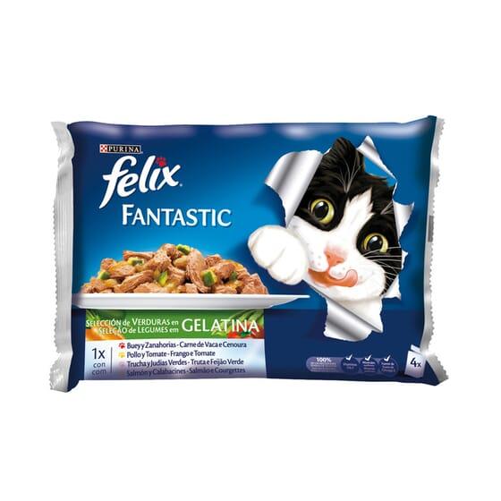 Fantastic Seleção De Verduras Em Gelatina 4 Saquetas De 100g da Felix