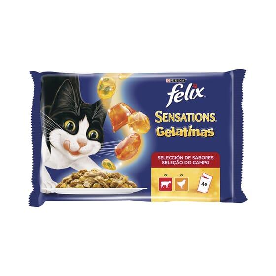 Sensations Gelatinas Selección De Carnes 4 Sobres De 100g de Felix