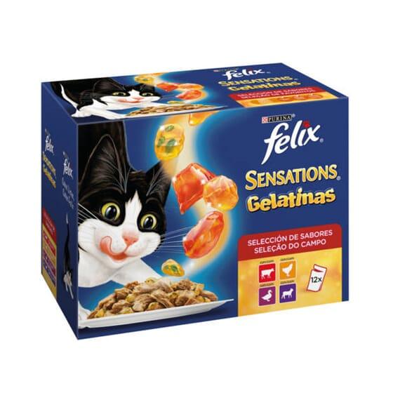 Sensations Gelatinas Selección De Carnes 12 Sobres De 100g de Felix