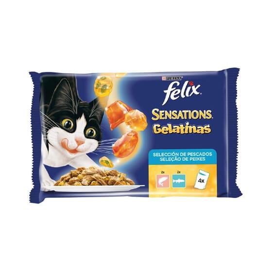 Sensations Gelatinas Selección De Pescados 4 Sobres De 100g de Felix