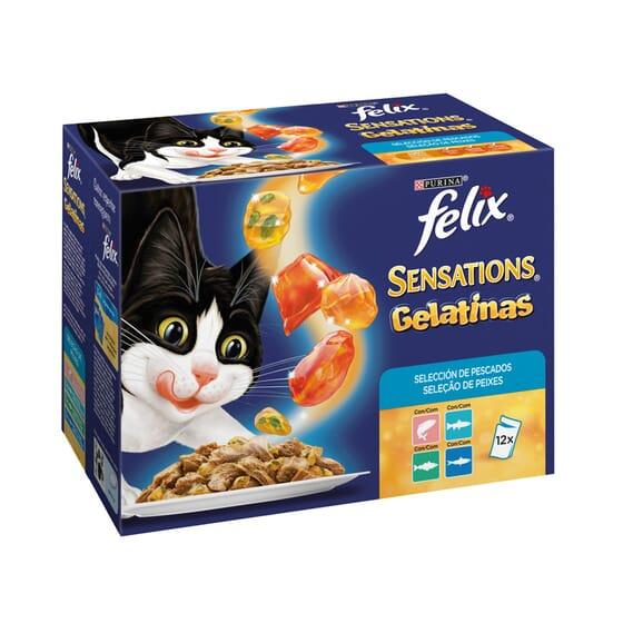 Sensations Gelatinas Selección De Pescados 12 Sobres De 100g de Felix
