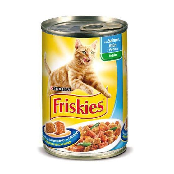Gato Adulto Com Salmão e Atum Com Molho 400g da Friskies