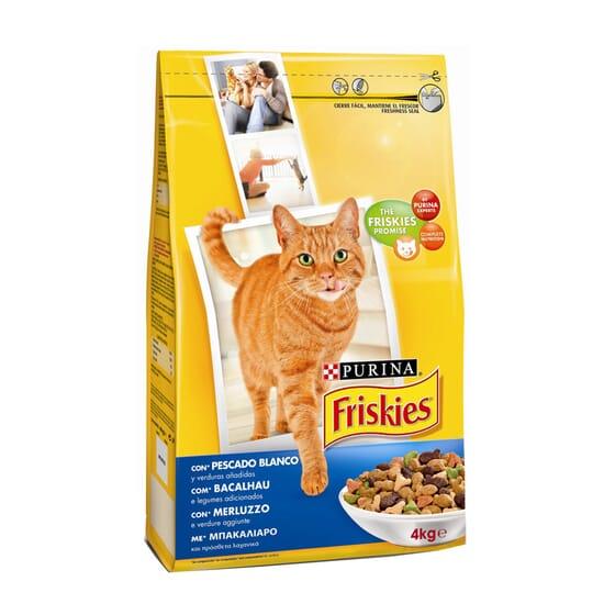 Gato Adulto Con Bacalao y Verduras 4 Kg de Friskies