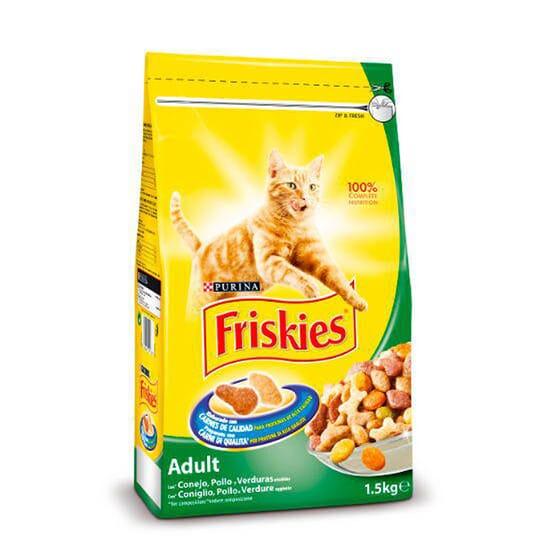 Gato Adulto Com Coelho, Frango e Verduras 1,5 Kg da Friskies