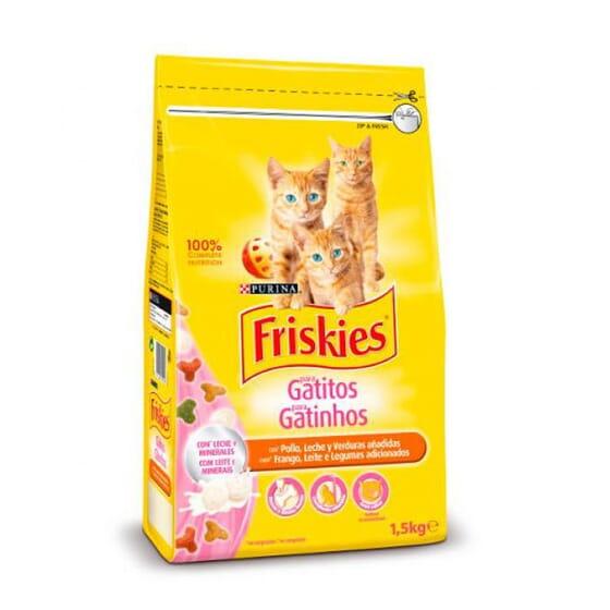 Junior Gatos Até 1 Ano Frango, Leite e Verduras 1,5 Kg da Friskies
