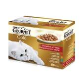 Gold Pedacinhos em Molho Pack Sortido 12X85g da Gourmet