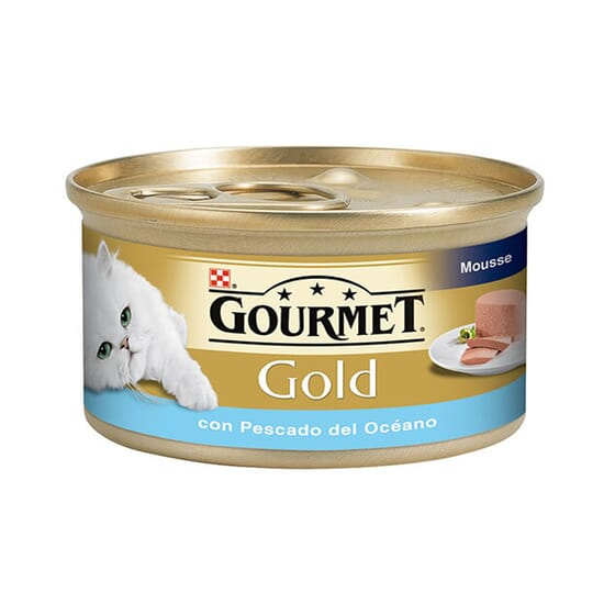 Gold Mousse Com Peixe Do Oceano 85g da Gourmet
