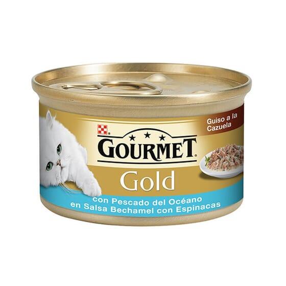 Gold Guisado Peixe e Espinafres 85g da Gourmet