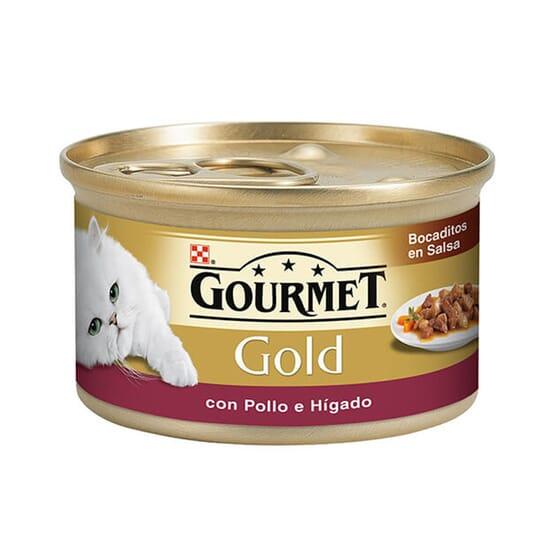 Gold Pedacinhos Com Molho Frango e Fígado 85g da Gourmet
