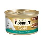 Gold Bocaditos En Salsa Salmón y Pollo 85g de Gourmet