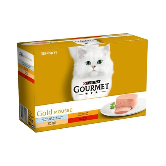 Gold Mousse Pack Surtido 12X85g de Gourmet