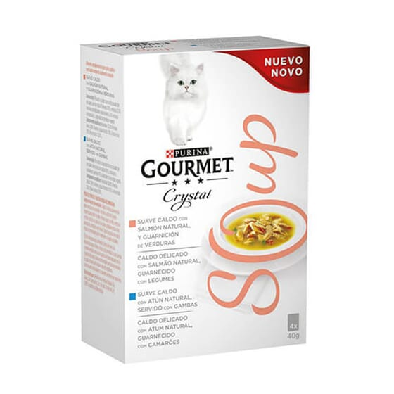 Crystal Soup Salmón 4X40g de Gourmet
