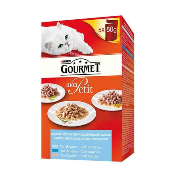 Mon Petit Sardinha, Salmão e Bacalhau 6X50g da Gourmet