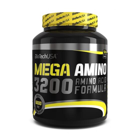 MEGA AMINO 3200 - 500 Comprimés - BIOTECH USA