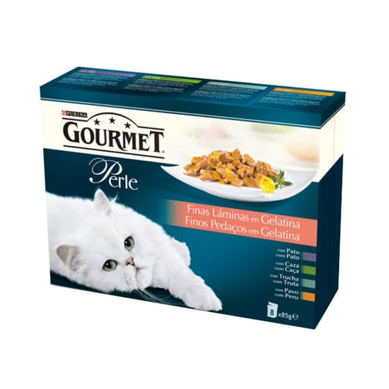 Perle Finas Láminas En Gelatina Surtido 8X85g de Gourmet