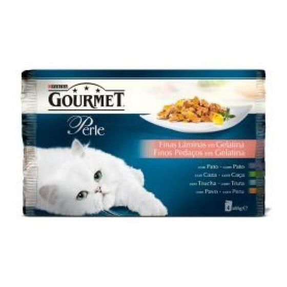 Perle Finas Láminas En Gelatina Pollo y Buey 4X85g de Gourmet