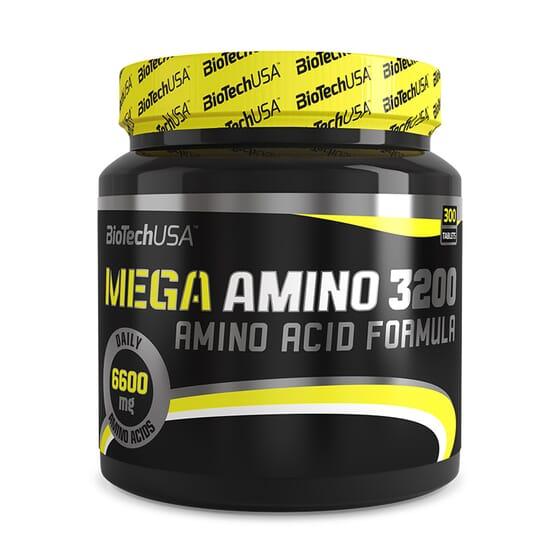 Mega Amino 3200 300 Tabs de Biotech Usa