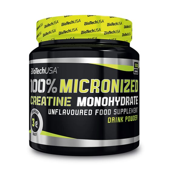 100 % CREATINE MONOHYDRATE MICRONIZED 500 g - BIOTECH USA