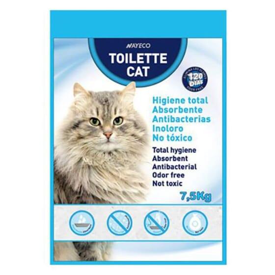 Areia de Silica Toilette Cat 7.5 Kg da Nayeco