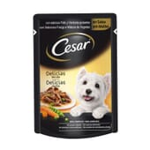 Delicias En Salsa De Pollo y Verduras Para Perro 100g de Cesar